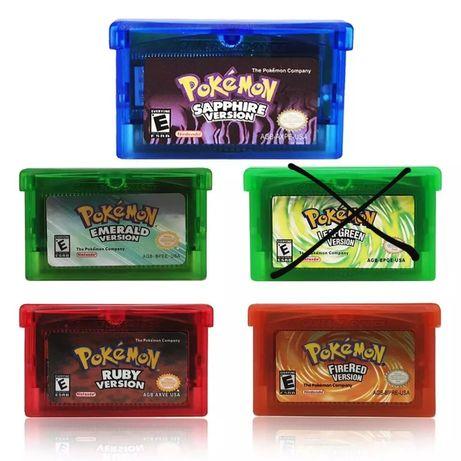 Pokémon Gameboy Advance GBA Ruby, Sapphire, Emerald, Leaf Green, Fire
