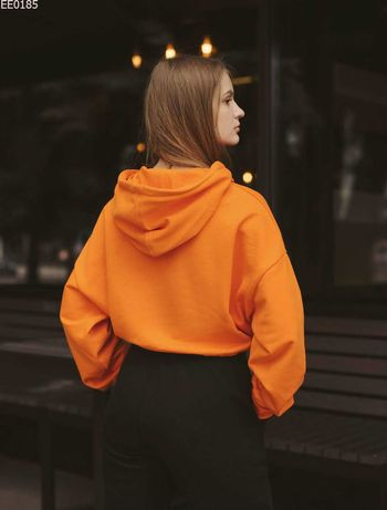 Женская толстовка mini orange/cropped hoodie mini orange