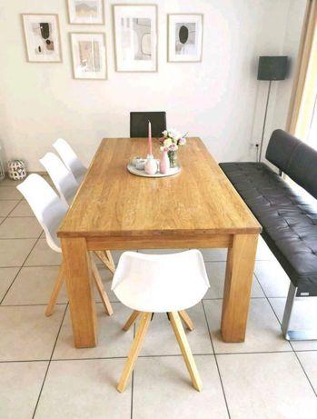 Stół drewniany dębowy rozkładany