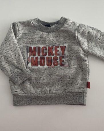 Bluza jak nowa Mickey Mouse Primark hologram 68 3-6 mcy
