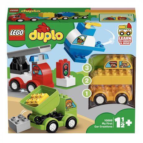 Lego duplo, мои первые машинки. Оригинал.Пожарная, эвакуатор, вертолет