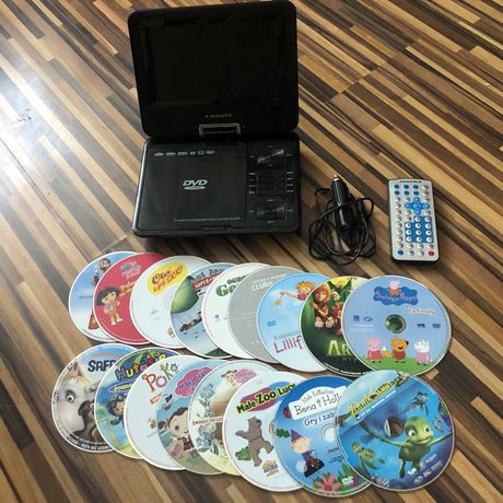Przenośne Dvd Odtwarzacz płyt Gratis Bajki na dvd