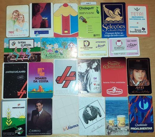 Vários lotes de calendários de diversas Marcas