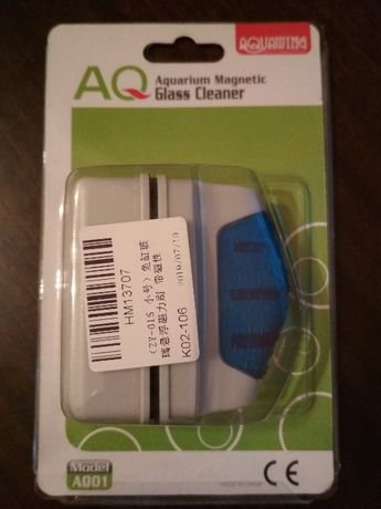 Новая магнитная щетка для чистки стекол аквариума.