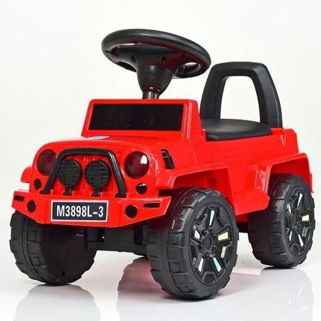 Детская машинка каталка толокар JOY, детский джип с музыкой, машина