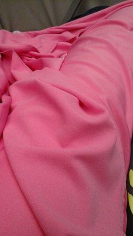 Tkanina różowa  z lycrą