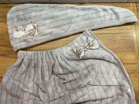 Набор для сауны бани бассейна чалма полотенце на кнопках подарок