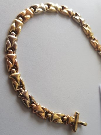 ZŁOTA Bransoletka damska złoto 333 trzy kolory złota piękna!
