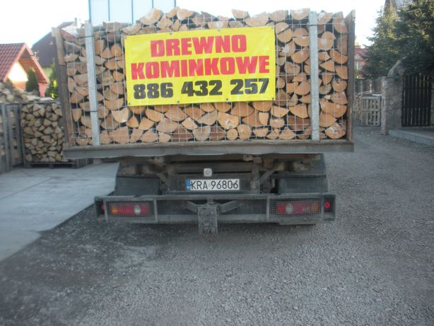 Drewno kominkowe opałowe  Grab Buk Dąb Jesion Brzoza Sosna