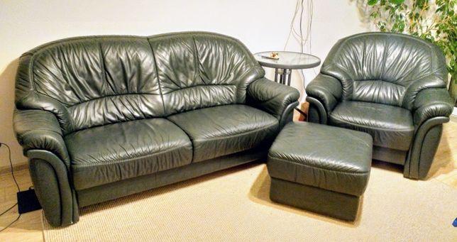 Wypoczynek skóra naturalna sofa kanapa fotel pufa