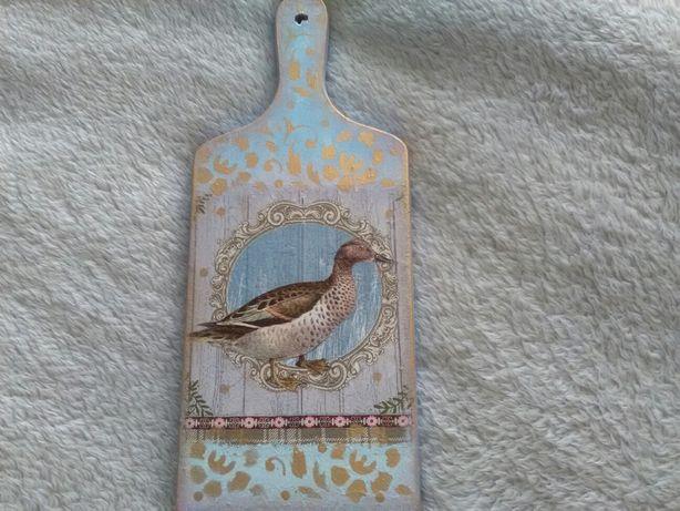 Deska dekoracyjna recznie zdobiona