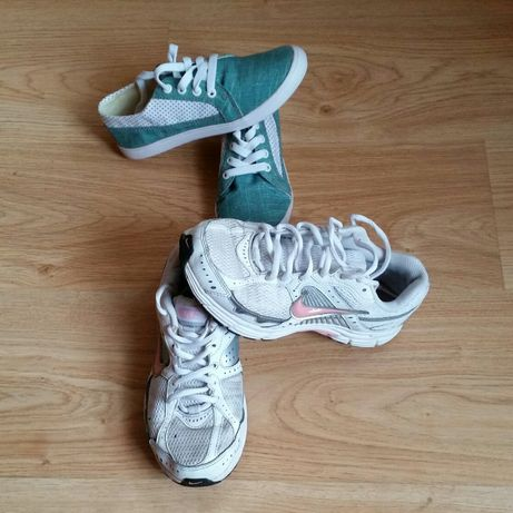 Adidasy Nike i kapcie NOWE 2PARY