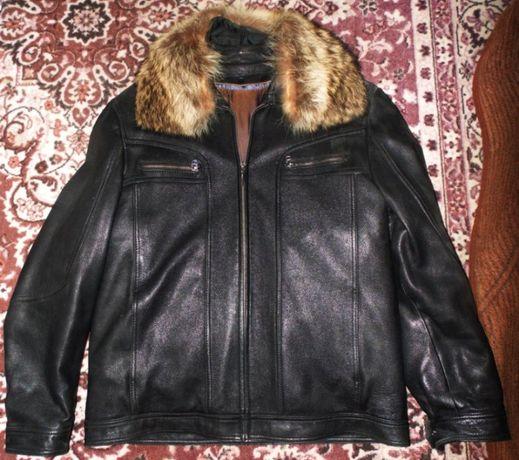 Куртка,курточка,дубленка мужская 48-50-52 р.Кожа натуральная .Теплая