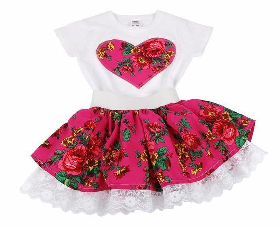 KOMPLET ludowy Cleo spódniczka góralska spódnica folk PRODUCENT