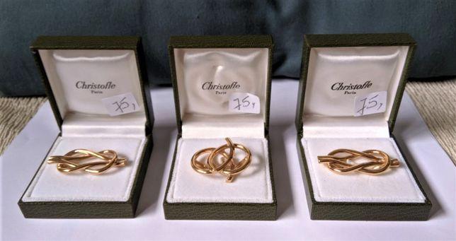 Anéis de Lenço Banho Ouro Christofle