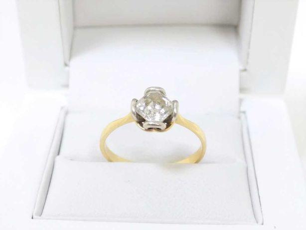 Piękny Złoty Pierścionek Mikicki Pr.585 R.19