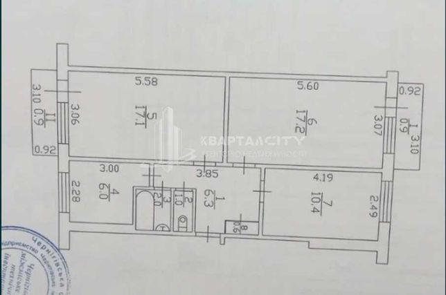 Продам 3 комн. кв-ру по ул.Белова  площадью 62м2  ( можно в иппотеку)