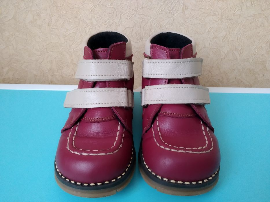 Демисезонные тёплые ортопедические ботинки, сапожки ТАШЫ 15,5 см Сумы - изображение 1
