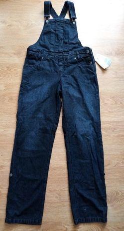 Nowe spodnie ogrodniczki jeansowe czarne L