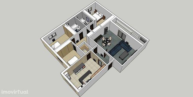 Apartamento T3 em urbanização familiar
