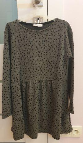 Szara sukienka w kropki, Zara, rozmiar 140