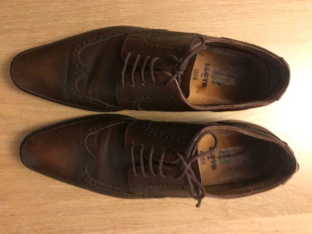 Eleganckie męskie pantofle skórzane