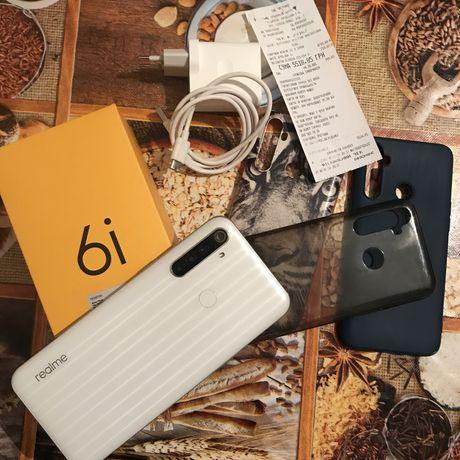Realme 6i 4/128 на гарантии +3 чехла в подарок