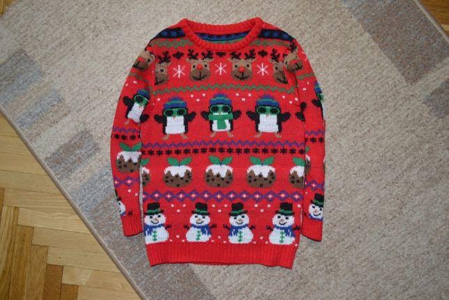 новогодний свитер джемпер nutmeg 4-5 л. 104-110 см.