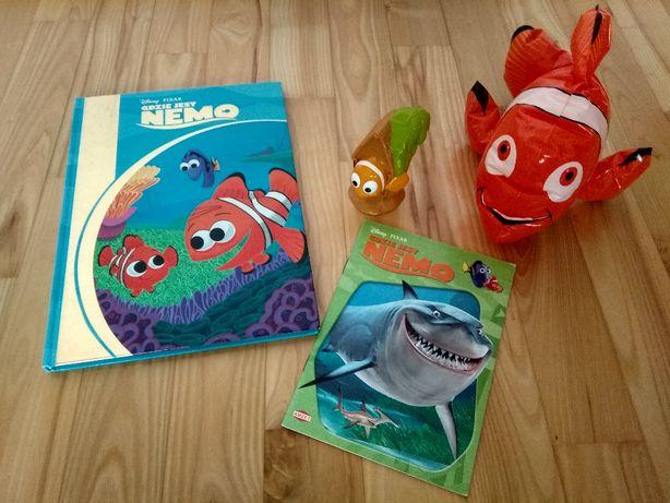 Książka Gdzie jest Nemo Disney+ kolorowanka+dmuchany Nemo+figurka WE
