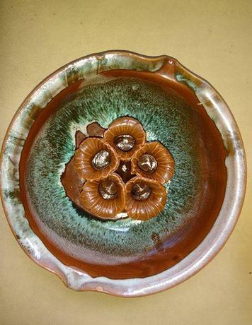 ваза для цветов глина глазурь ручная работа подсвечник на 5 свечей