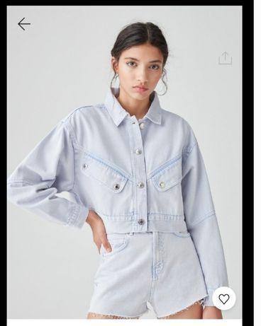 Трендовая джинсовая куртка PULL&BEAR
