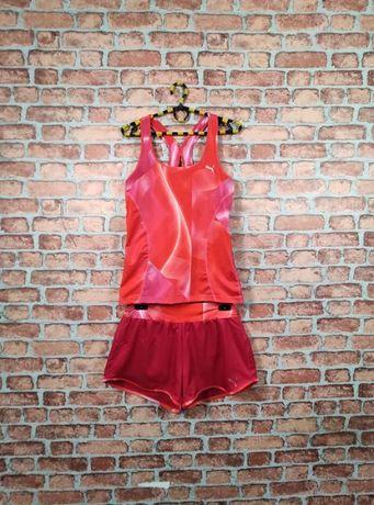 Спортивный Комплект шорты и майка для бега фитнеса Puma