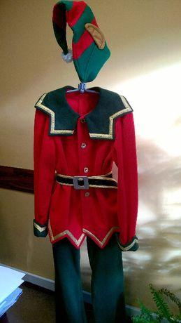 Profesjonalny strój Elfa, szyty wg projektu-marynarka/spodnie i czapka