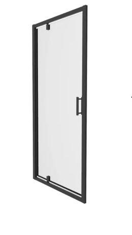 Drzwi Prysznicowe wahadłowe czarne 87,5 do 92,5