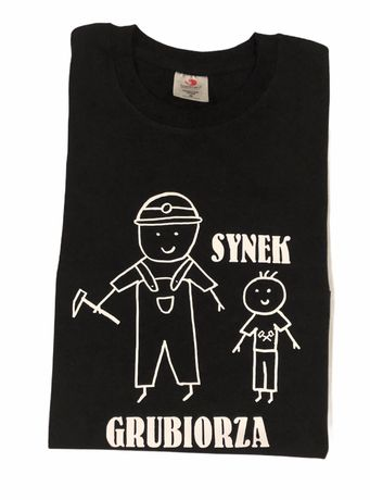 Koszulka z nadrukiem - Synek Grubiorza