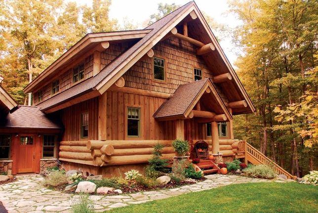 Построить деревянный дом со сруба баня под ключ Дикий сруб из бруса
