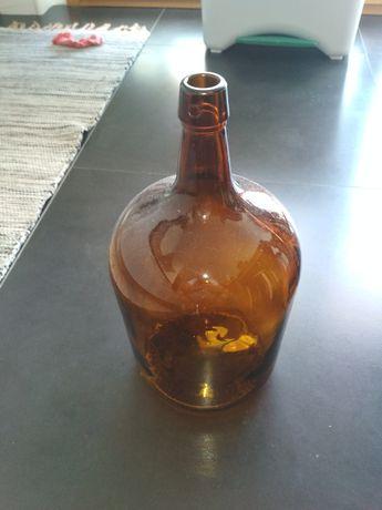 Garrafão vidro castanho