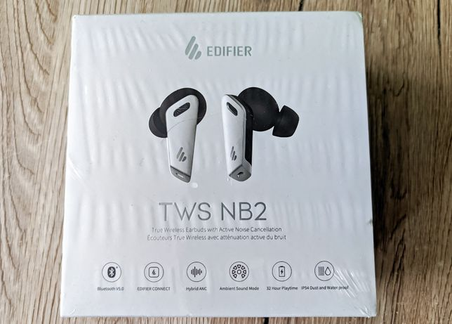 NOWE TWS Edifier NB2 Słuchawki bezprzewodowe Bluetooth nb 2 anc