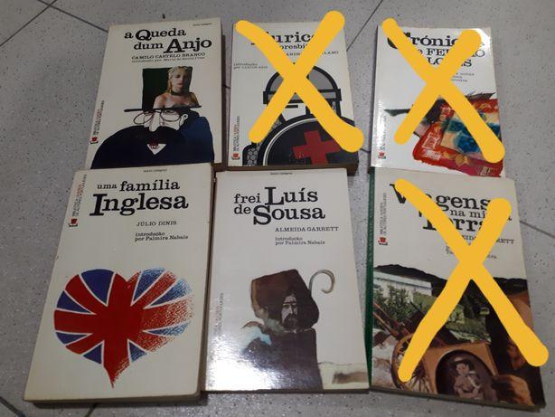 Livros de literatura portuguesa em bom estado geral