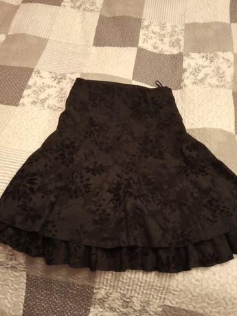 spódnica czarna rozmiar 40 dwuwarstwowa