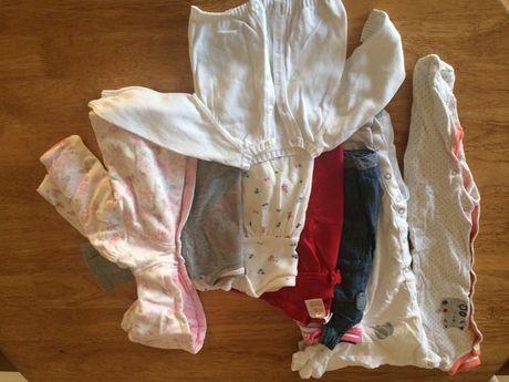 Paka ubran dla dziewczynki 0-3mies