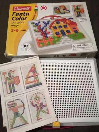 Мозаика геометрическая Quercetti Fanta color в кейсе, 28х20 см