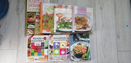 Książki kucharskie przepisy zestaw 7szt WYPRZEDAŻ KSIĄŻEK