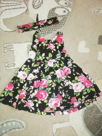 Sukienka letnia kwiaty 86-92