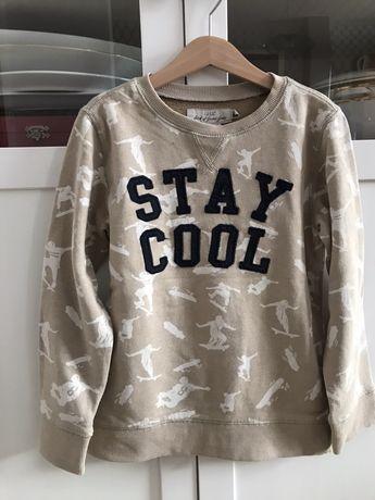 H&M modna bluza z napisem 122/128 super stan