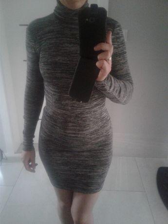 super sukienka tuba xs/s36 BERSHKA NOWA jesień dopasowana