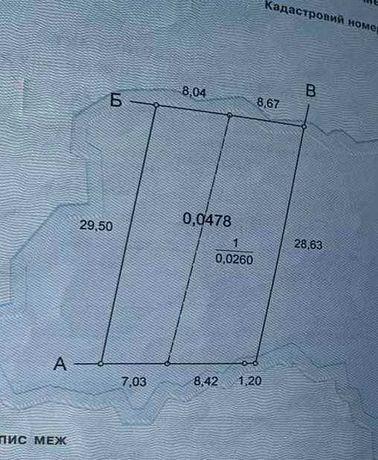 Продам участок 4.7 сотки в районе ЖМ Радужный, Таирово. 1N26