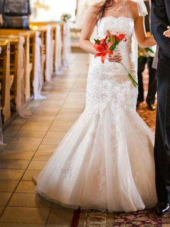 Suknia ślubna Annais Bridal Tivoli 34 xs ivory GRATIS welon bolerko