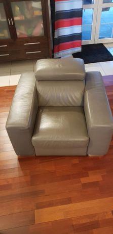 Fotel skórzany 2 sztuki
