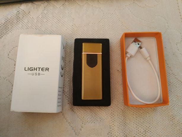 Зажигалка USB сенсорная, спиральная